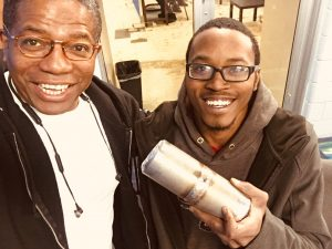 Sherman McLeod With Student of the Pipefitting Training Program
