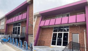 Front building renovated at Philadelphia Technician Training Institute.