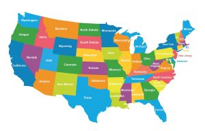 USA States Color Map