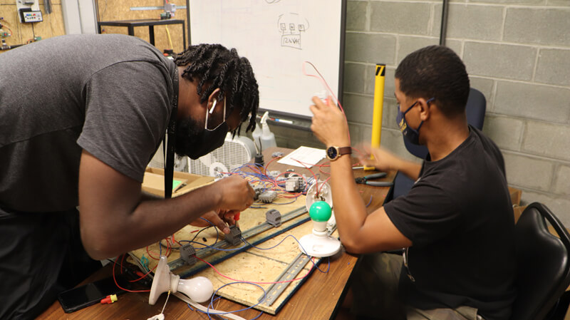 Training for Manufacturing Automation Electrician at Philadelphia Technician Training Institute.