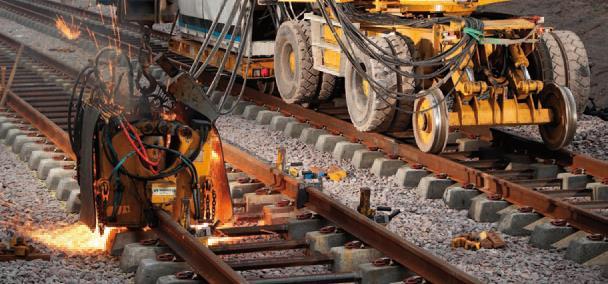 Flashbutt welding on rails