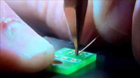 Micro-welding in electronics