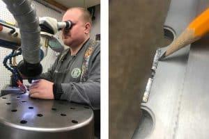 Precision micro welding