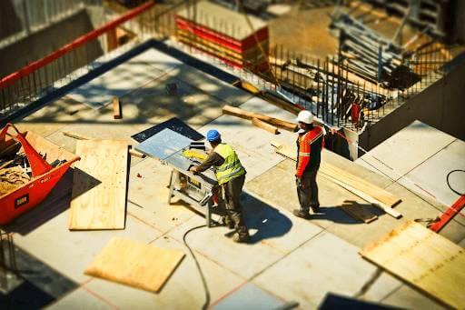 Construction training in progress