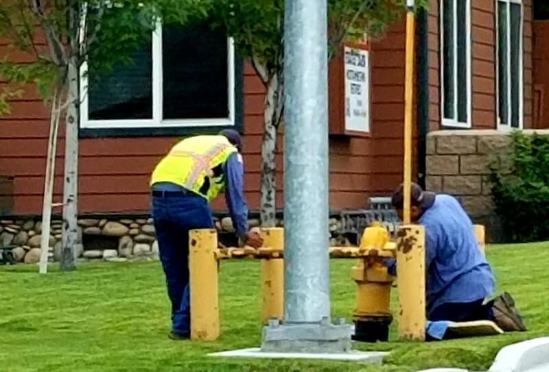 Plumbing training in progress