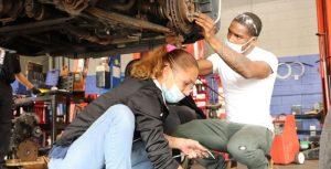 Hands-on automotive technician training