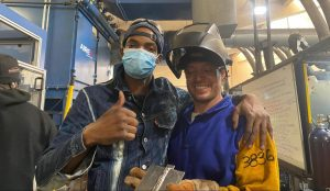 Welding students work in top paying skilled trades