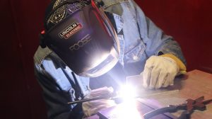 Training in skilled trades - a budding welder