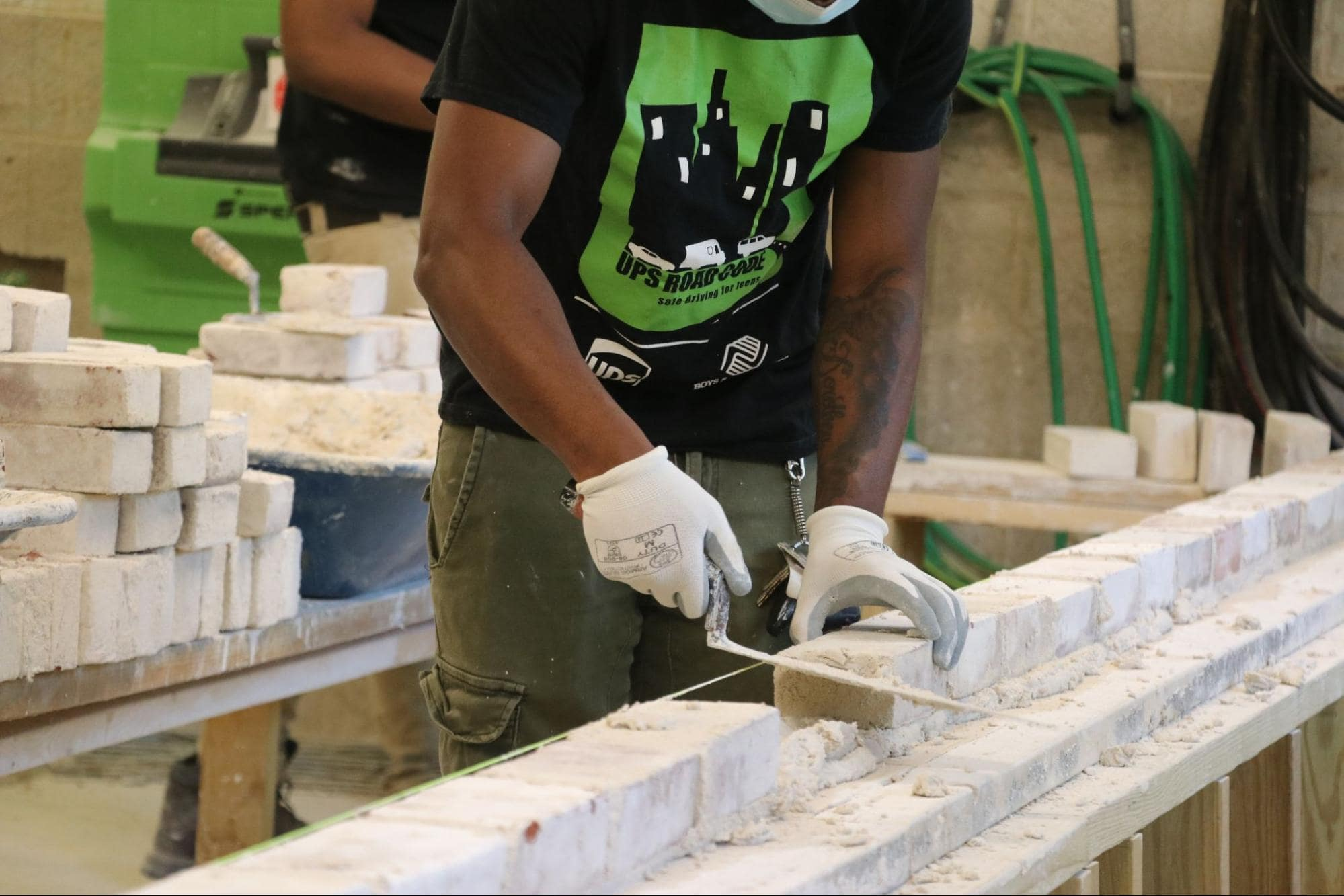 Life of a student in construction training program- concrete, framing and masonry