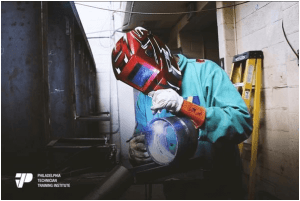 hands-on welder training at welding trade school