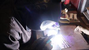 flux-cored arc welding training in a welding certification program