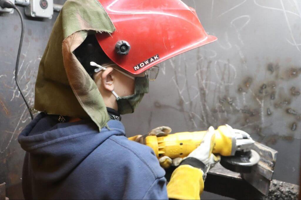 welding training in shielded metal arc welding