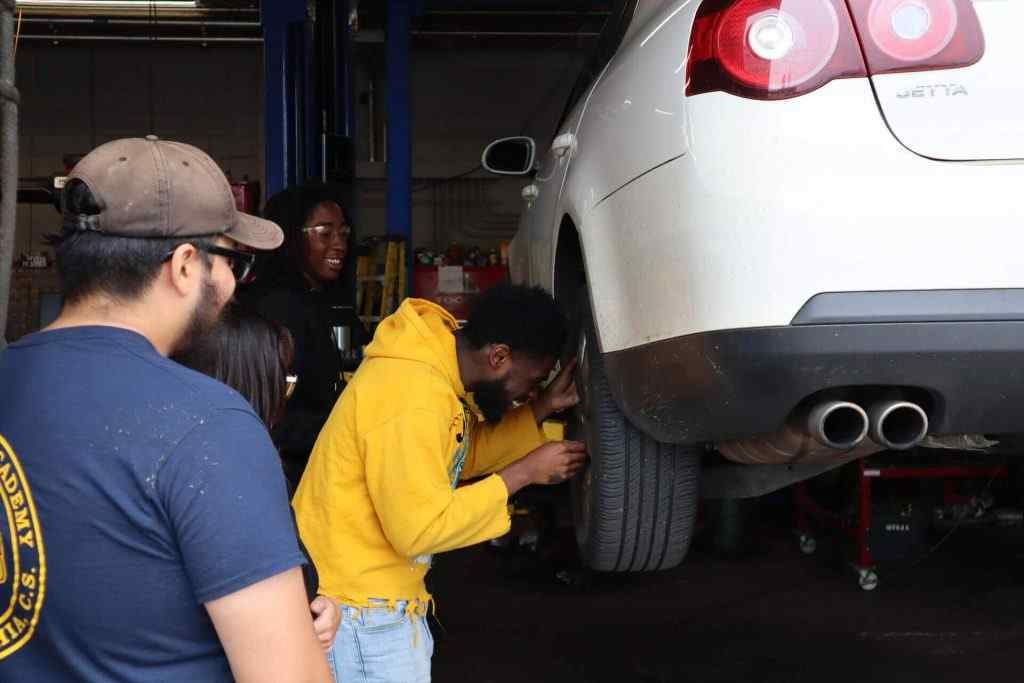Students at PTTI getting a hands-on technician service training