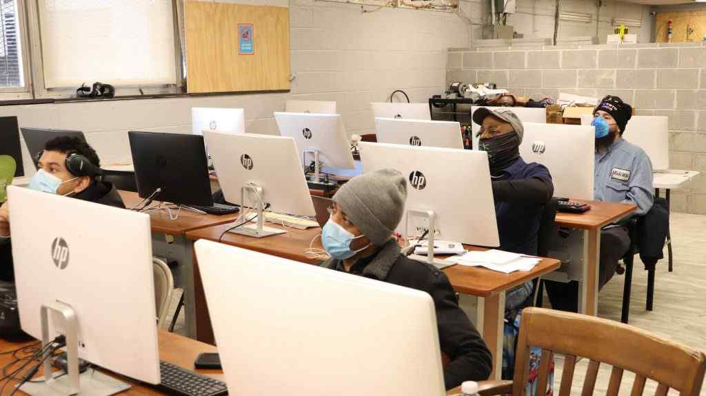 Students attending electrical certification courses in Philadelphia